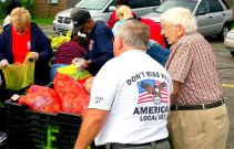 August 20, 2015-- Union volunteers distributed over 5,000 pounds at the August food truck, First Community AME
