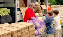 July 16, 2015-- Union volunteers distributed over 5,000 pounds at the July food truck, The Springs Church