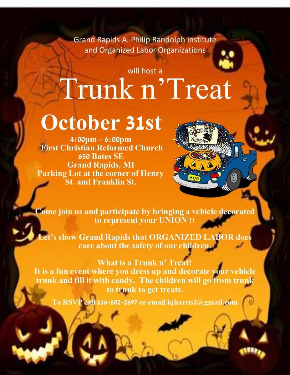 Represent Your Union This Halloween At Trunk N Treat
